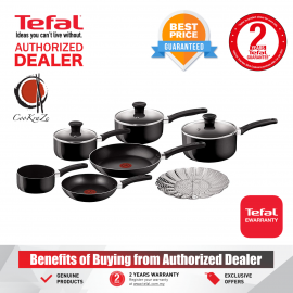 image of PREMIUM Tefal Delight 7 piece Non Stick Cookware Set Pot Pan Frypan B020S744