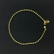 image of Emas Korea Golden Jaguar Fashion Rantai Kaki (Bebola Anklet)