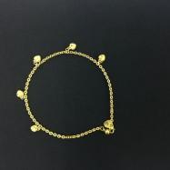 image of Emas Korea Rantai Kaki (Bentuk Love)
