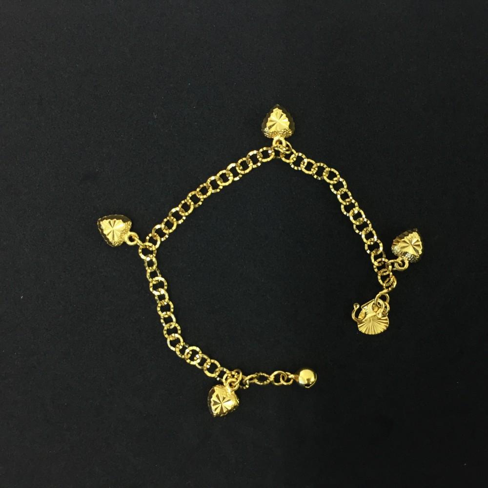 Emas Korea Rantai Tangan (Bentuk Love)