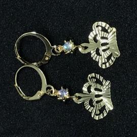 image of Emas Korea Subang Panjang (Diamond Berlian Dengan Bentuk Mahkota)
