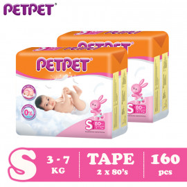 image of Petpet Tape Diaper Mega Pack -2 pack ( S160 /M144/L120/XL96)