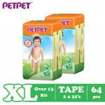 Petpet Tape Diaper Jumbo Pack -2 pack (NB120 /S112/M96/L80/ XL64)