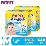 image of Petpet Comfort Tape Mega Pack -2 pack (M120/L100/XL80)