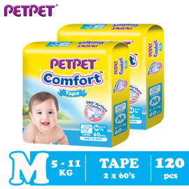 image of Petpet Comfort Tape Mega Pack -2 pack (M120/L100/XL80)