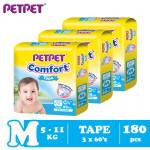 Petpet Comfort Tape Mega Pack -3 pack (M180 /L150/XL120)