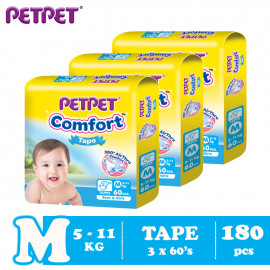 image of Petpet Comfort Tape Mega Pack -3 pack (M180 /L150/XL120)