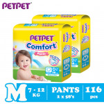 Petpet Comfort Pants Jumbo Pack -2 pack (M116/ L92/XL80/XXL68)