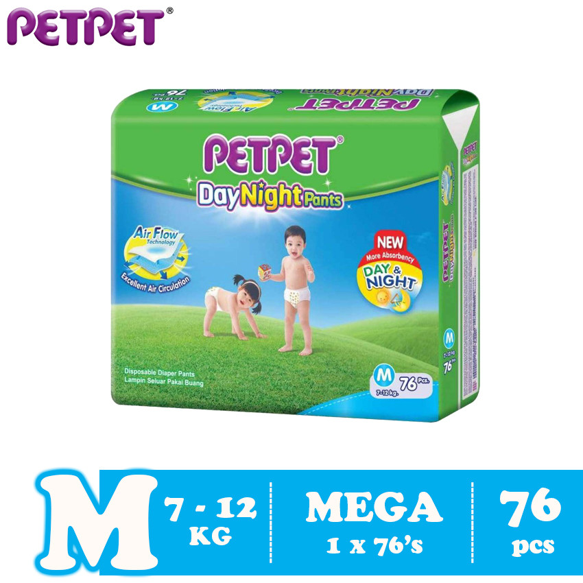 image of Petpet DayNight Pants Mega Pack (M76/L66 / XL56/XXL48)