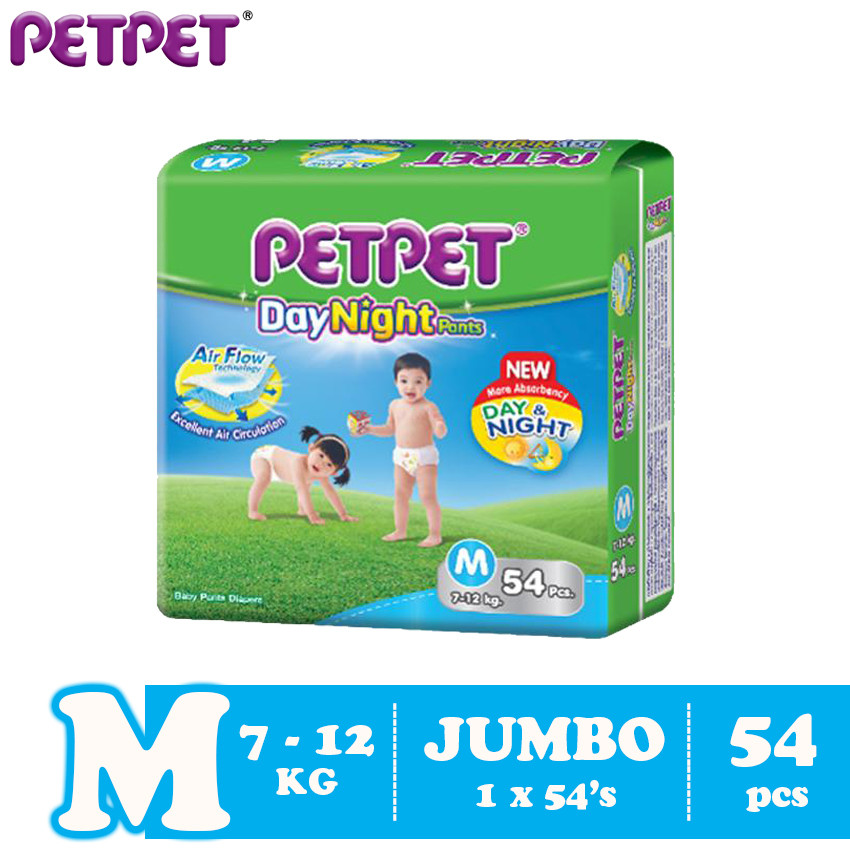 image of Petpet DayNight Pants Jumbo Pack (M54/L46/XL40/XXL32)