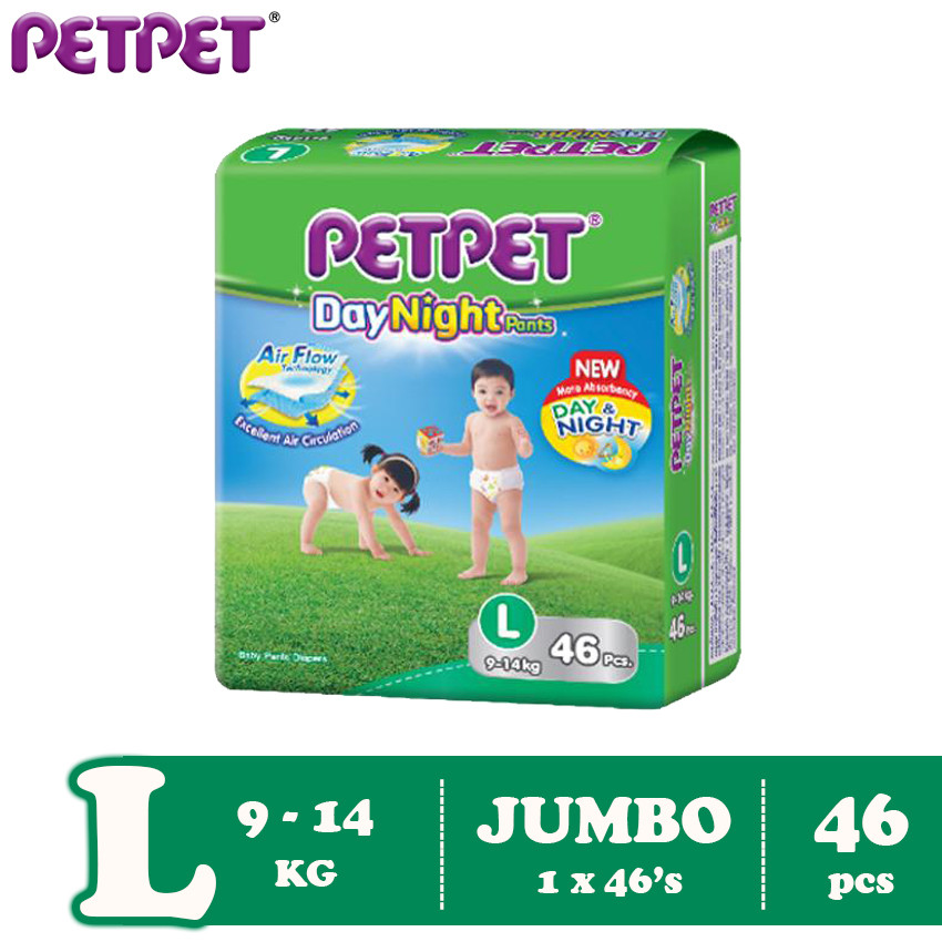 Petpet DayNight Pants Jumbo Pack (M54/L46/XL40/XXL32)