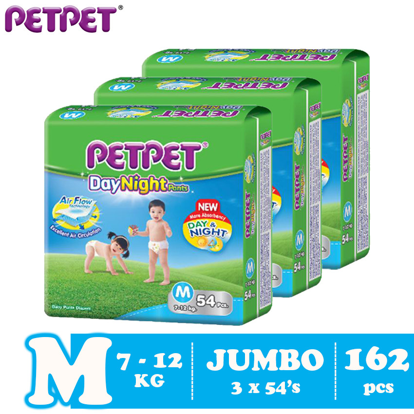 image of Petpet DayNight Pants Jumbo Pack -3 pack ( M162/L138 / XL120/XXL96 )
