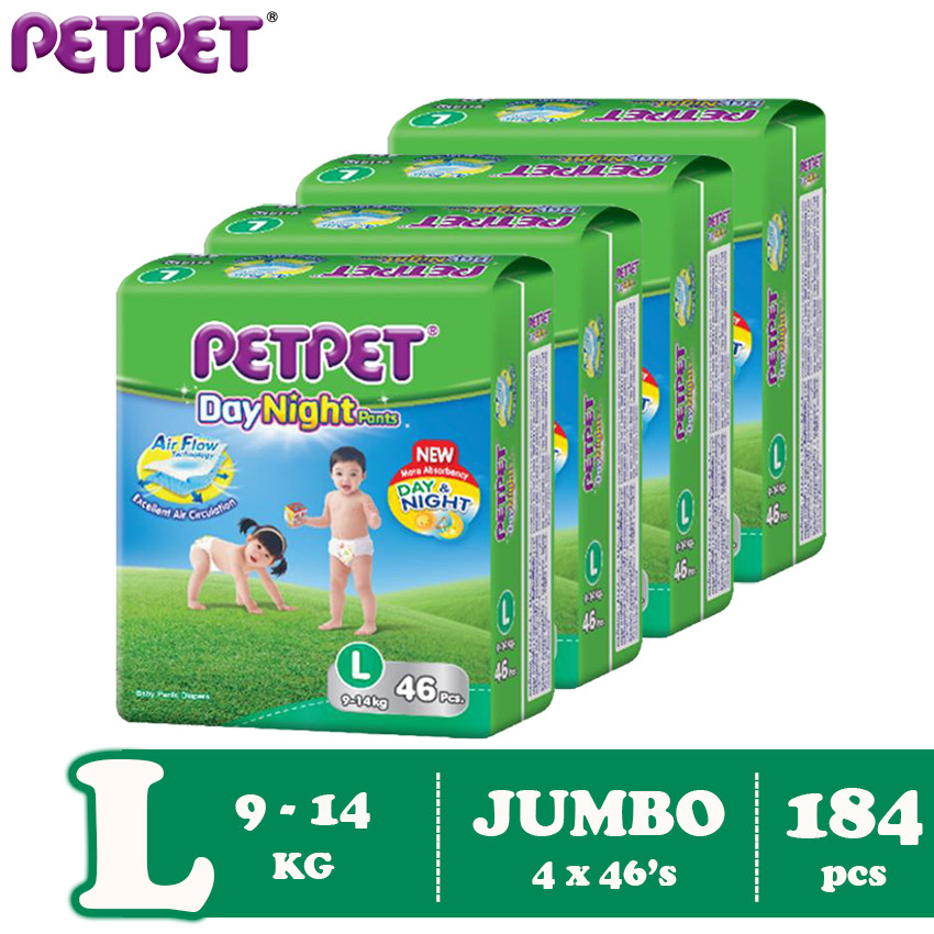 Petpet DayNight Pants Jumbo Pack-4 pack ( M216/L184/ XL160/XXL128)