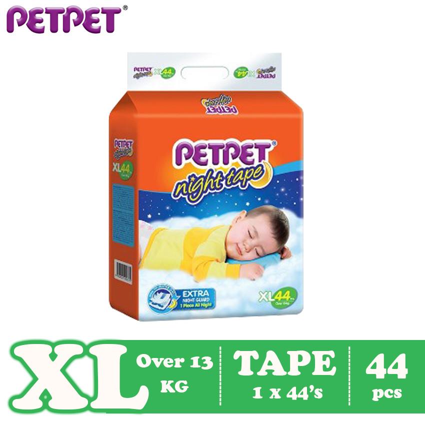 Petpet Night Tape Mega Pack (S66 /M60/L50/XL44 )