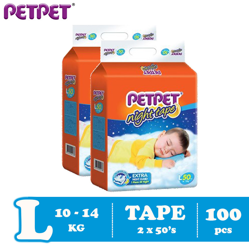 Petpet Night Tape Mega Pack- 2 pack ( M132/L120 / XL100/XXL88 )