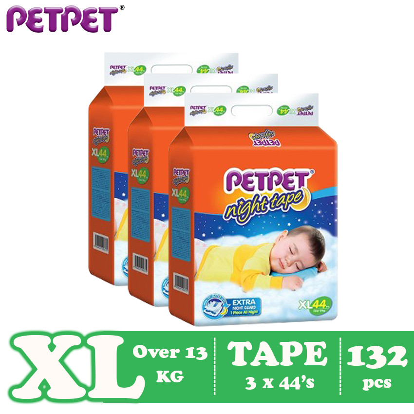 Petpet Night Tape Mega Pack- 3 pack ( S198/M180 / L150/XL132 )