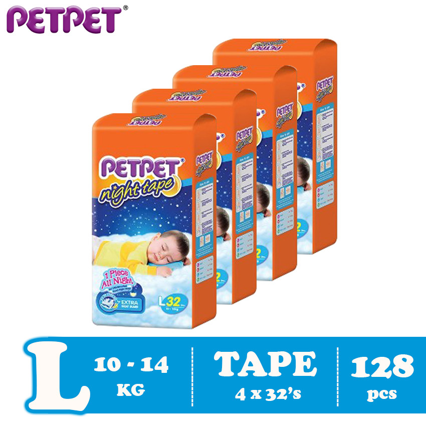 Petpet Night Tape Jumbo Pack- 4 pack (S168/M160 / L128/XL120)