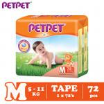 Petpet Tape Diaper Mega Pack (S80/M72/L60/XL48)