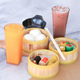 image of Halal Dimsum set and two (2) drinks for two (2) person