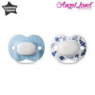 image of Tommee Tippee Little London Soother 0-6 months - 2 Pack (Blue White Pack)