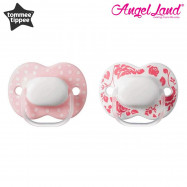image of Tommee Tippee Little London Soother 0-6 months - 2 Pack (Pink Red Pack)
