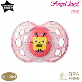 image of Tommee Tippee Closer to Nature Air Style Soother - 1pk (433375/38 / 433377/38) Pink - 433377/38 (6-18m)