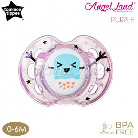 image of Tommee Tippee Closer to Nature Air Style Soother - 1pk (433375/38 / 433377/38) Purple - 433375/38 (0-6m)