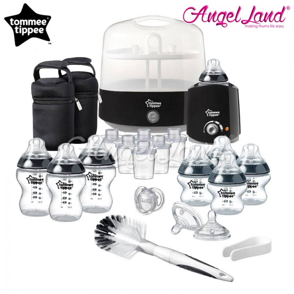 Tommee Tippee Closer To Nature Complete Feeding Set - Black -423582/38