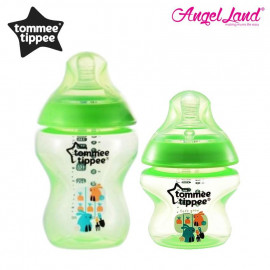 image of Tommee Tippee Closer To Nature Tinted Bottle (5oz/150ml + 9oz/260ml) lime green + green
