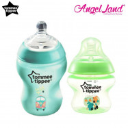 image of Tommee Tippee Closer To Nature Tinted Bottle (5oz/150ml + 9oz/260ml) jdgreen + green
