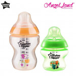 Tommee Tippee Closer To Nature Tinted Bottle (5oz/150ml + 9oz/260ml) orange + green