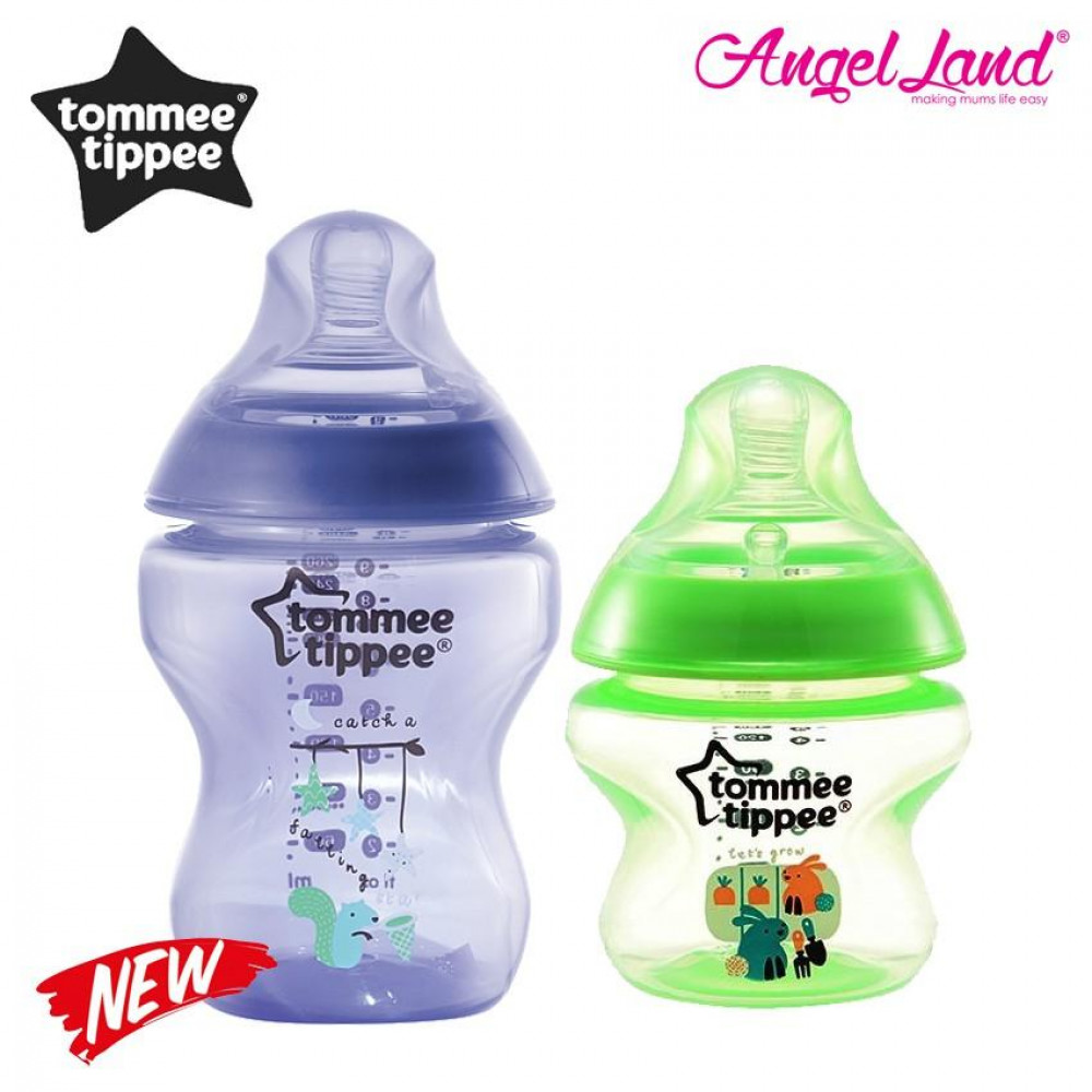 Tommee Tippee Closer To Nature Tinted Bottle (5oz/150ml + 9oz/260ml) purple + green