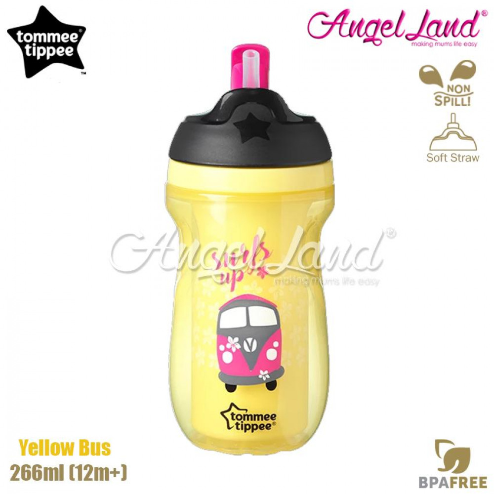 Tommee Tippee Insulated Straw Cup 266ml (12m+) Yellow Bus