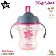 image of Tommee Tippee Easy Drink Straw Cup 230ml (9m+) Pink Flower