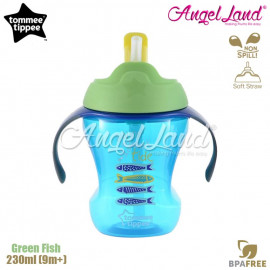 image of Tommee Tippee Easy Drink Straw Cup 230ml (9m+) Green Fish