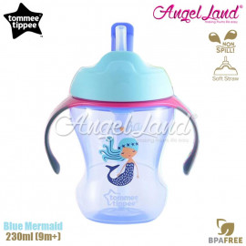 image of Tommee Tippee Easy Drink Straw Cup 230ml (9m+) Blue Mermaid