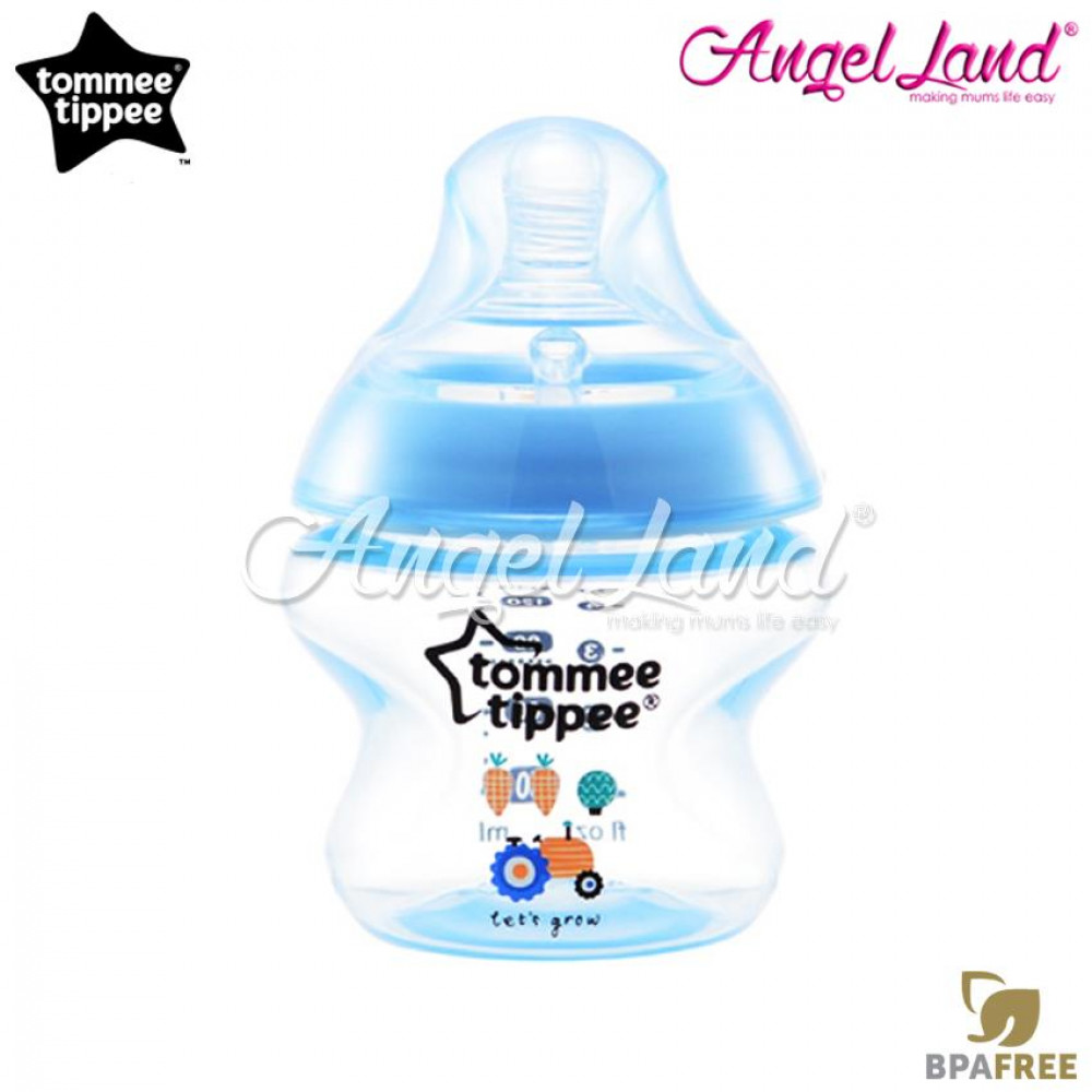 Tommee Tippee Closer to Nature Tinted Bottle 150ml (5oz) Blue