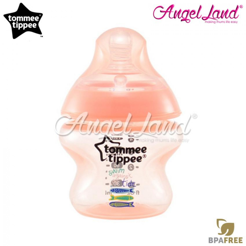 Tommee Tippee Closer to Nature Tinted Bottle 150ml (5oz) Peach