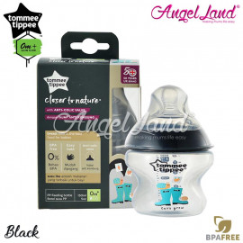 image of Tommee Tippee Closer To Nature Tinted Bottle 150ml/5oz Black
