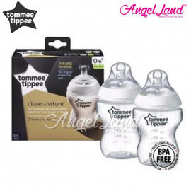 image of Tommee Tippee Closer To Nature PPSU Bottle - 260ml Twin