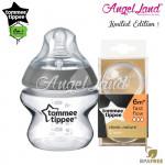 Tommee Tippee CTN Tinted Bottle 150ml/5oz + Tommee Tippee CTN Teat - Silver 422535/38 + Fast Flow 421124/38