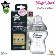 image of Tommee Tippee CTN Tinted Bottle 260ml/9oz - Silver