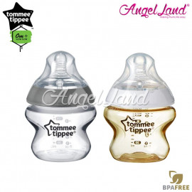 image of Tommee Tippee Closer To Nature Tinted Bottle 150ml/5oz x 2- Gold + Silver
