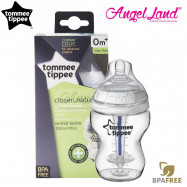 image of Tommee Tippee Closer To Nature Anti Colic Plus Single Bottle - 260ml/9oz - Clear 421136/38