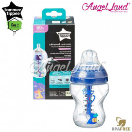 image of Tommee Tippee Closer To Nature Anti Colic Plus Single Bottle - 260ml/9oz - Blue 422655/38