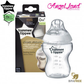 image of Tommee Tippee Closer To Nature PP Bottle 260ml Single - 421113/38