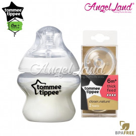 image of Tommee Tippee Closer To Nature PP Bottle 150ml 421111/38 + Tommee Tippee CTN Teat (2pcs/pack) 150ml / 5oz 421111/38 + Fast Flow 422142/38