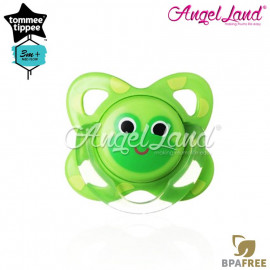 image of Tommee Tippee Closer To Nature Fun Silicone Soother 3-9m - 433229/38 - Frog