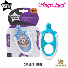 image of Tommee Tippee Closer To Nature Triple Action Stage 3 Teether - 436454/38 - Blue