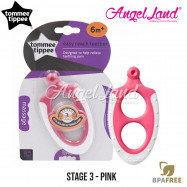 image of Tommee Tippee Closer To Nature Triple Action Stage 3 Teether - 436454/38 - Pink